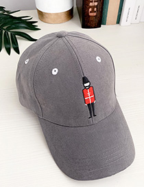 Fashion Gray Canvas Adult Peaked Cap