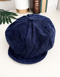 Fashion Navy Corduroy Adult Beret