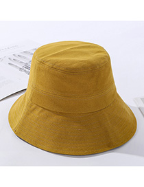 Fashion Yellow Cotton Sewing Thread Small Brimmed Hat