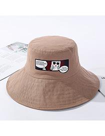 Fashion Khaki Graffiti Cotton Traces Hat
