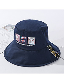 Fashion Navy Split Double-sided Wear Hat Label Letter