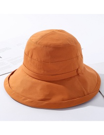 Fashion Orange Cotton Double-layer Stacked Fisherman Hat