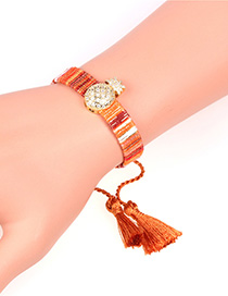 Fashion Brown Micro Inlaid Zircon Pineapple Fringed Bracelet