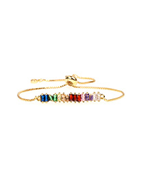 Fashion Golden Adjustable Bracelet With Diamond Crystal Chain