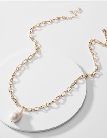Fashion Golden Shaped Shell Pearl Alloy Sweater Necklace