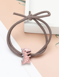 Fashion Pink Little Dinosaur Elastic Resin Knotted Hair Rope