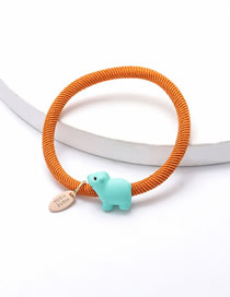 Fashion Orange Rope Resin Small Animal Single Layer Hit Color Hair Rope