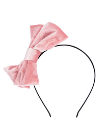 Fashion Pink Gold Velvet Bow Headband