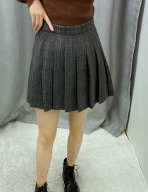Fashion Gray Pleated Skirt