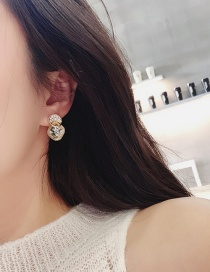 Fashion Golden 925 Silver Pin Full Diamond Stud Earrings