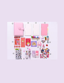 Fashion Luxury Suit Pink Checkered Loose-leaf Notebook Stickers Sticky Note Set