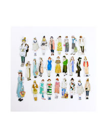 Fashion British Gas Pretty Women 26 Pieces Beauty Sticker Material This Phone Sticker Set
