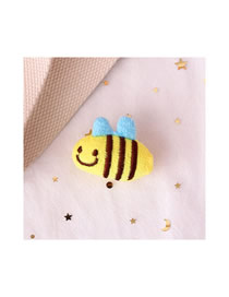 Fashion Little Bee Little Bee Plush Embroidered Brooch