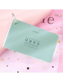 Fashion Large (green) Iron Ring Portable Tearable Note Pad