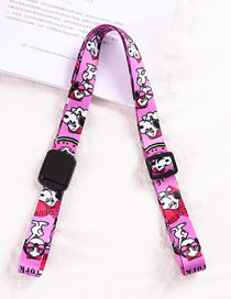 Fashion Purple Snoopy-universal Water Bottle Thermos Universal Cross Strap Strap Buckle