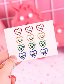 Fashion Love Emoji 3 Love Expression Pack Waterproof Durable Tattoo Stickers