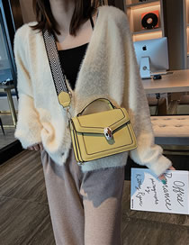 Fashion Yellow Snake Head Wide Shoulder Strap Crossbody Bag