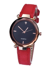 Fashion Red Watch With Diamond Strap