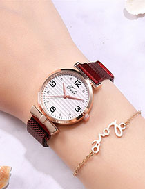 Fashion Red Diamond Watch With Diamond Magnet