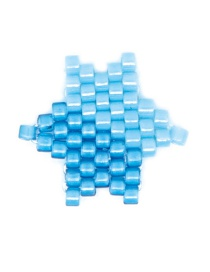 Fashion Gradient Blue Rice Beads Woven Big Five-pointed Star Pattern Accessory
