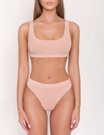 Fashion Meat Meal High Waist Split Swimsuit