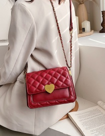Fashion Red Diamond Chain Shoulder Bag