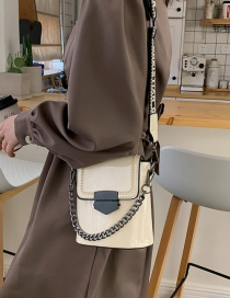 Fashion White Wide Shoulder Strap Crossbody Bag