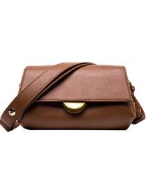 Fashion Brown Locked Shoulder Cross Body Bag
