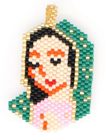 Fashion Color Rice Beads Woven Virgin Mary Religious Totem Accessory