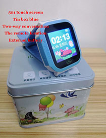 Fashion 501 Touch Screen (blue) Tin Box 1.44 Waterproof Smart Phone Watch With Touch Screen