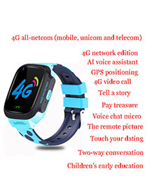 Fashion 4g Full Netcom (blue) + Video Call + Smart Ai + Waterproof + Gps Triple Positioning 1.44 Waterproof Smart Phone Watch With Touch Screen