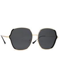 Fashion Black Ash Contrast Irregular Frame Tac1.1 Polarized Sunglasses