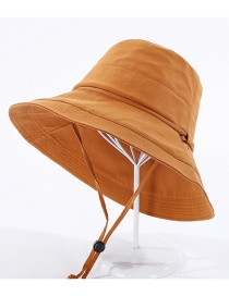 Fashion Caramel Fisherman Hat With Rope