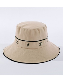 Fashion Beige Lettering Fisherman Hat