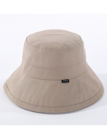 Fashion Khaki Cloth Label Foldable Fisherman Hat