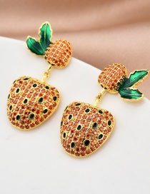 Fashion Red Strawberry Stud Earrings