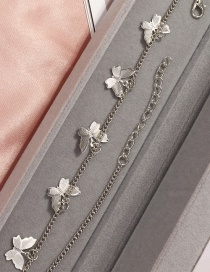 Fashion Silver Alloy Multiple Butterfly Pendant Necklace