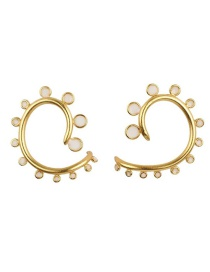 Fashion White Gold-plated Irregular Oil Drop Ear Clip Reviews