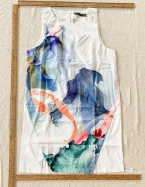 Fashion Color Ink-painted Sleeveless Dress