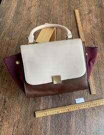 Fashion Beige Pu Color Bucket Bag Portable Diagonal Package