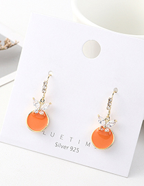 Fashion Golden Butterfly Wing Gold-plated Earrings