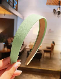 Fashion Green Matte Cloth Clothing Wide-brimmed Solid Color Headband