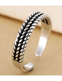 Fashion Silver Leaf Alloy Open Ring