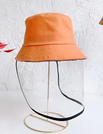 Fashion Orange Anti-fog Thin Children's Fisherman Hat