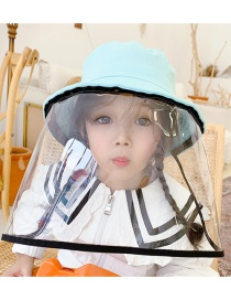 Fashion Light Blue Anti-fog Thin Children's Fisherman Hat