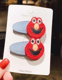 Fashion Red 1 Pair Knitted Cartoon Animal Leather Contrast Color Children's Hair Clip