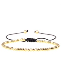 Fashion Golden Copper Plated Solid Gold Beaded Woven Beaded Bracelet