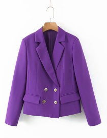 Fashion Purple Double-breasted Suit