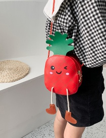 Fashion Red Cartoon Pineapple Children Shoulder Bag