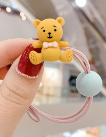 Fashion Light Pink Bear Tying The Color Ball To Tie The Hair Rope